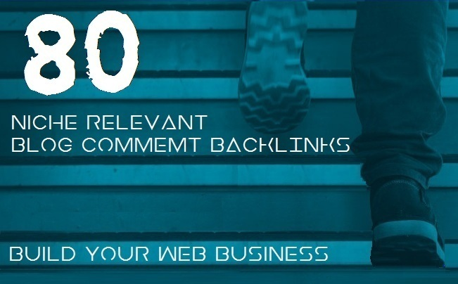 Do 80 niche related blog comment high quality backlinks