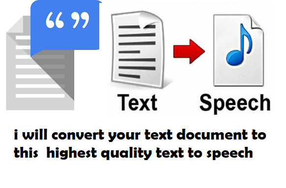 I will Convert Your Text Document to A High Quality MP3 Speech