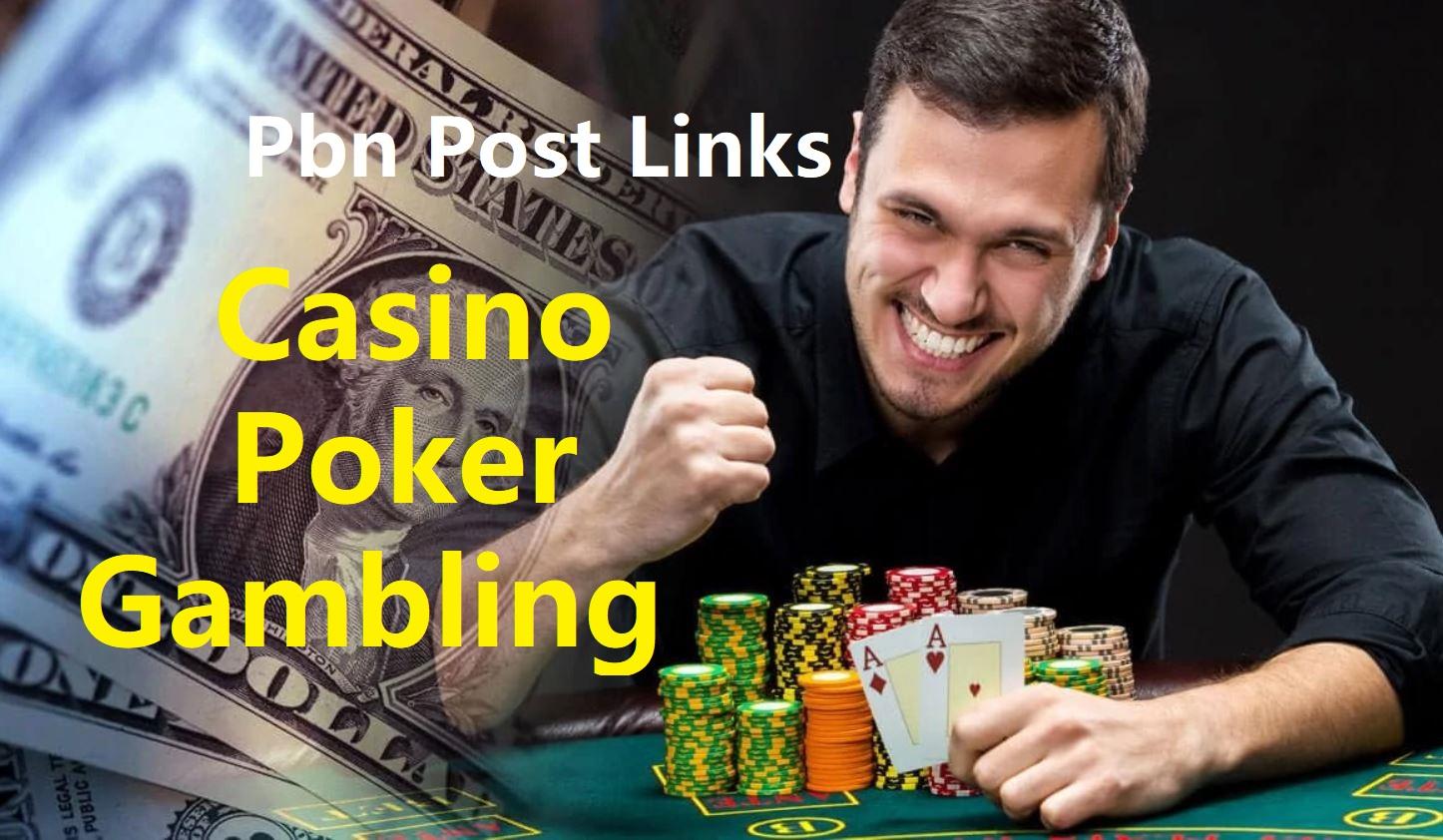 Manual make 200 Casino,  Poker,  Gambling High Quality DA/PA 20+ Homepage PBN Post Backlinks