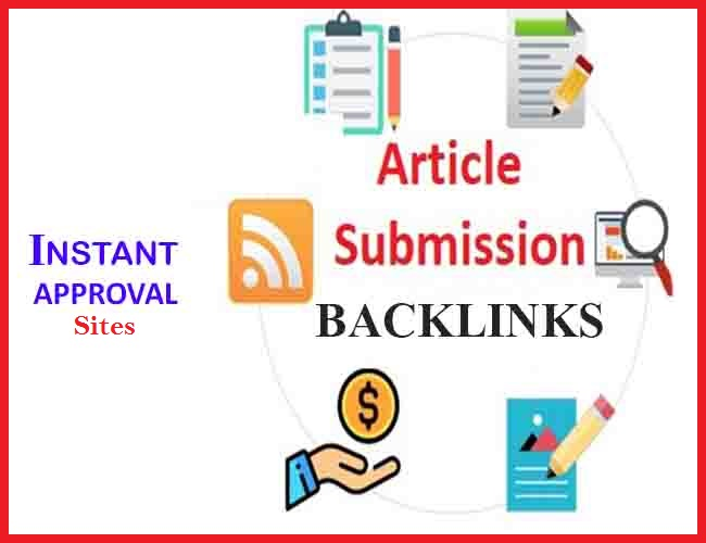 Manual 30 High-Quality Article Submission SEO Backlinks With Instant Approval Links