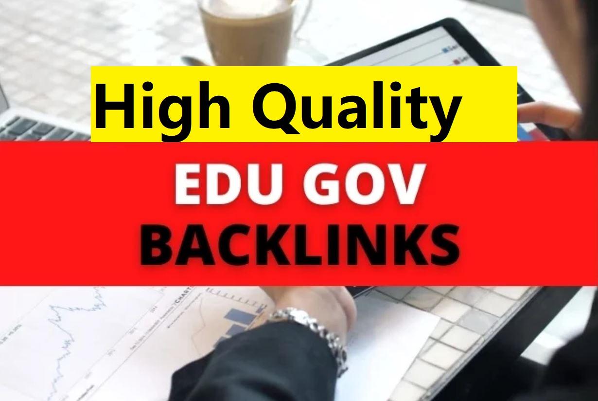 Manual create 25 edu gov profile backlinks to your site