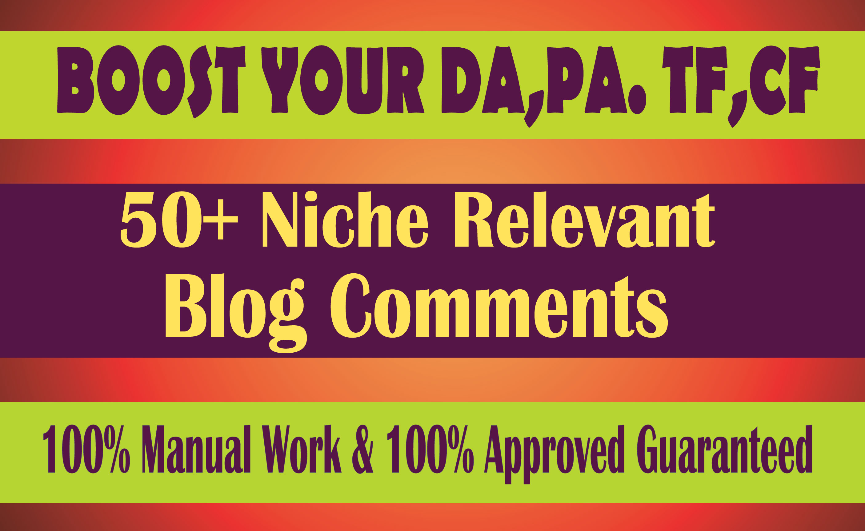 Niche Blog Comments with High Quality Guaranteed