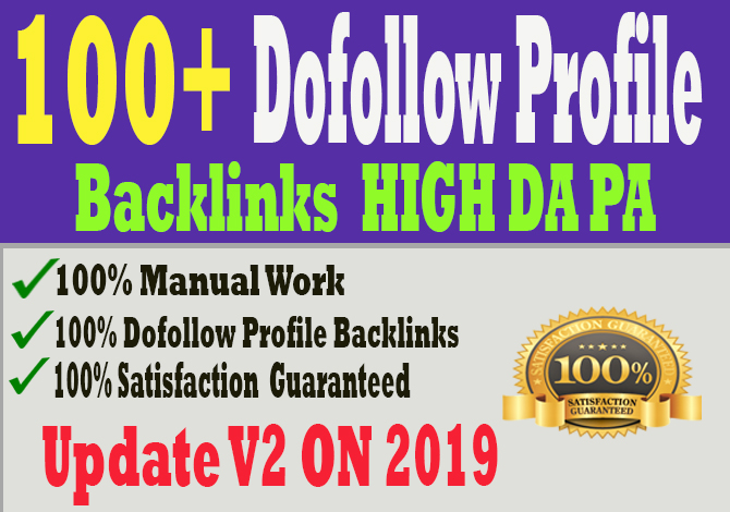 manually create 100 PR9 DA90 high dofollow profile backlinks,link building
