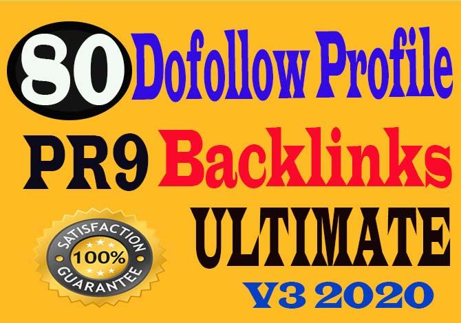 create 80+ Pr9 High Quality Dofollow Profile Backlinks