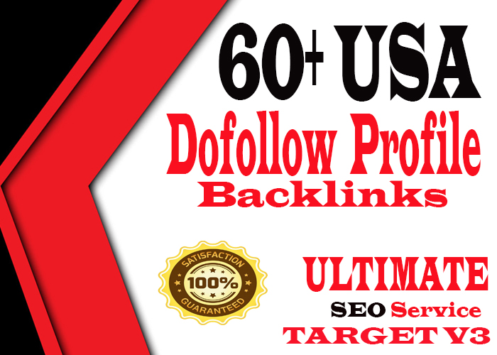 Manually Create 60+ USA High PR9 Dofollow Profile Backlink For your site
