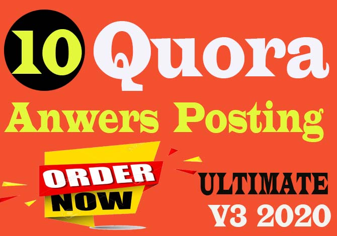 High Quality 10 Quora Answer and Posting with your keyword releted of Rank your website.