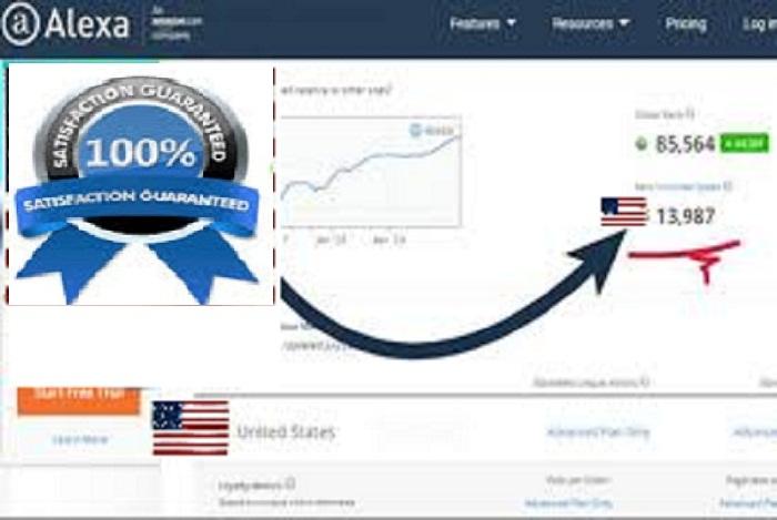 i will improve your web USA alexa ranking under 99K & Global under 999K