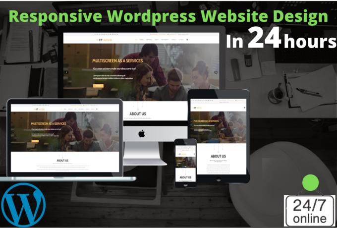 I will Create responsive,  SEO friendly wordpress website design asap