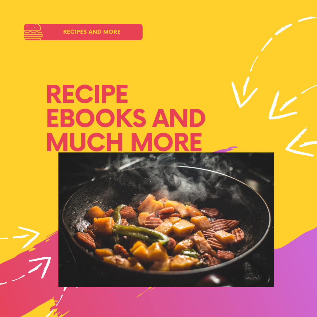 I will 1000 cooking ebooks,  articles and a special bonus