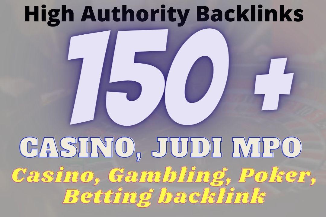 Build 150+ Casino, POKER,  JUDI BOLA Backlinks Skyrocket your Website to Google Page ONE