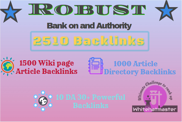 Buy 2510 Wiki page Article & Article Directory and High DA Backlinks touch on First page