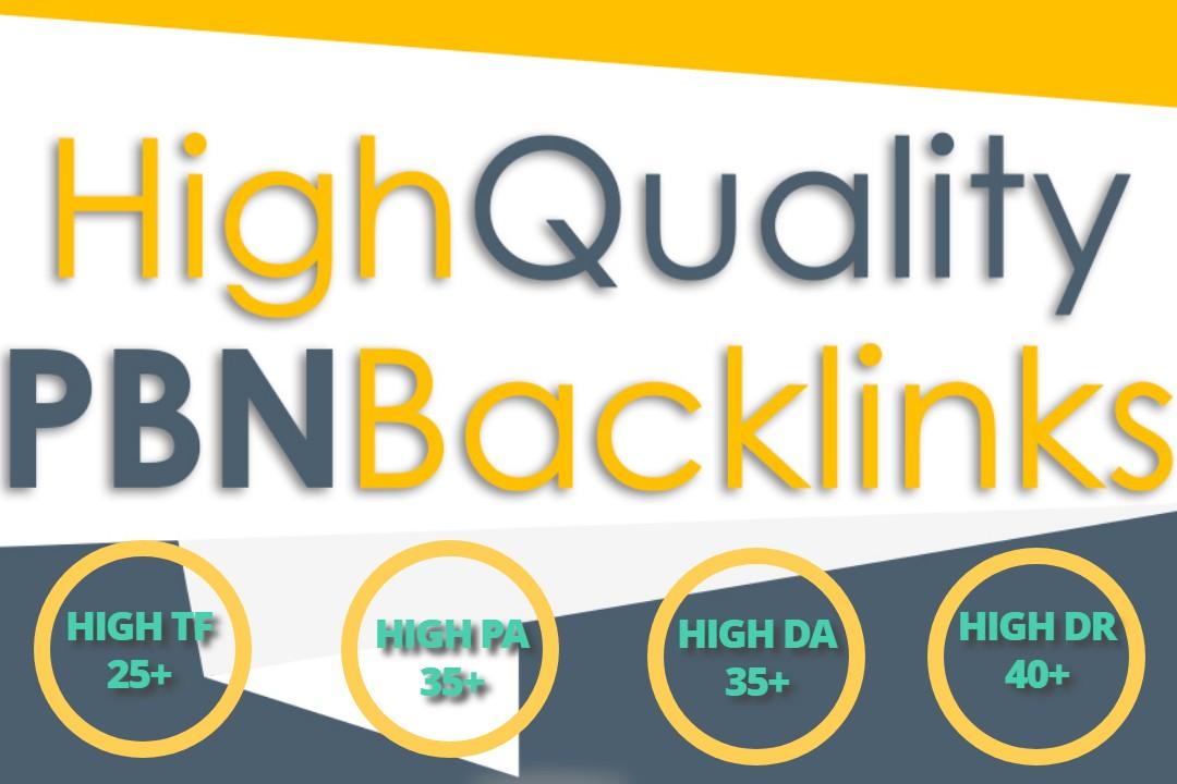 Build 40 High PA DA TF HomePage PBN Backlinks - Dofollow Quality Links