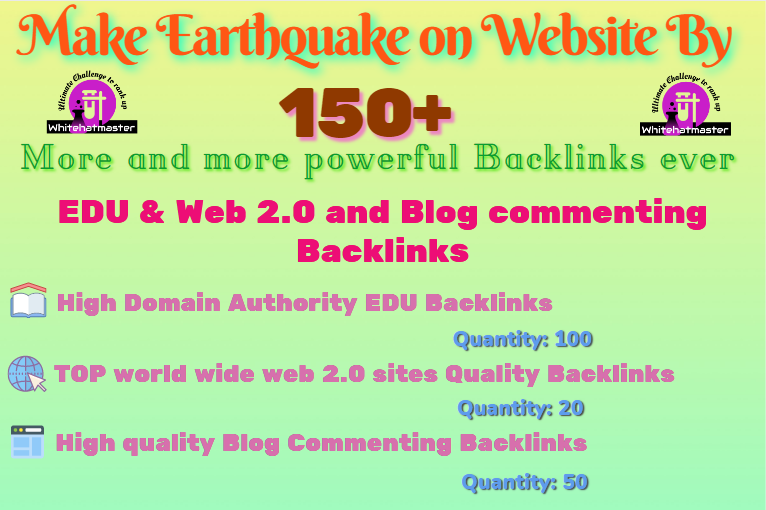 Buy 150+ Powerful EDU & Web 2.0 and Blog commenting Backlinks