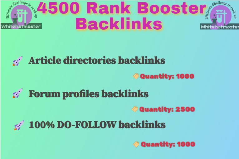 Buy 4500 Article Directory & Forum Profile and 100 Do-follow Backlinks