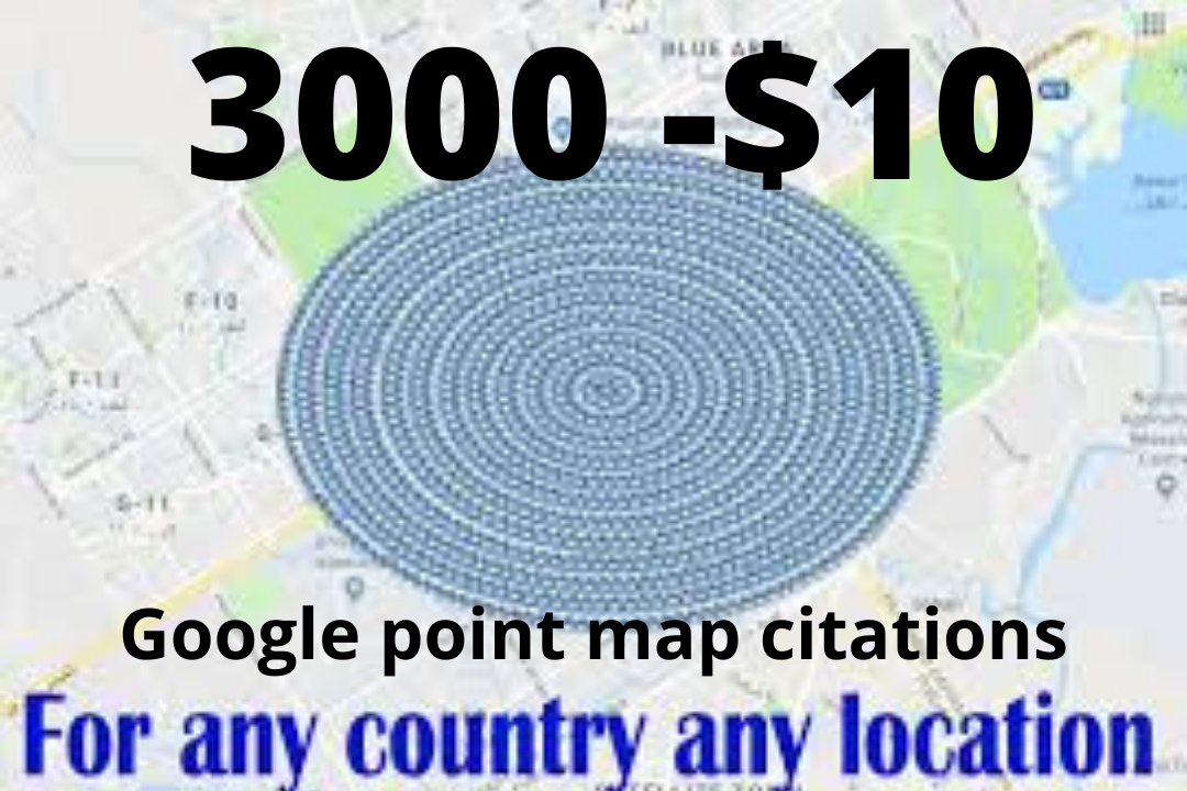 Quick delivery 1500 google point map citations listing with local SEO