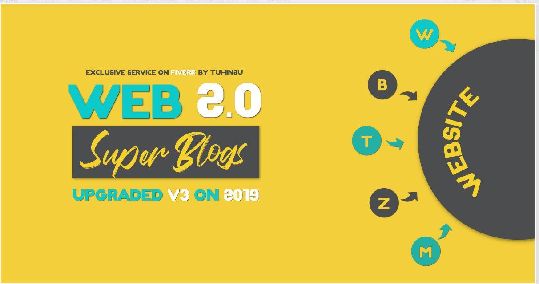I will create 10 super web 2 0 blogs with login