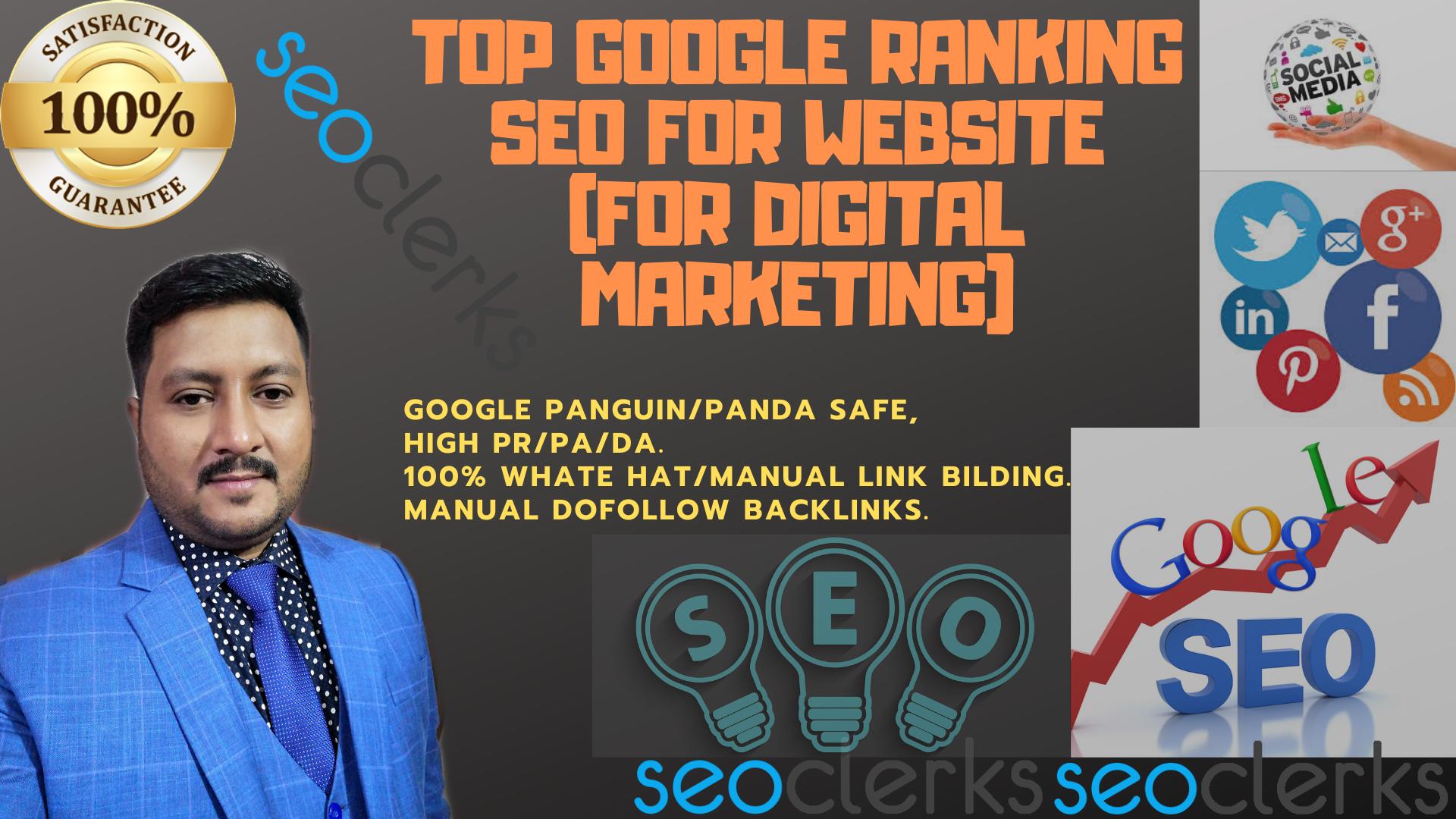 I will provide google top ranking white hat SEO