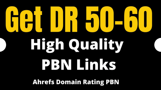 6 DR 50 to 60 High quality pbn backlink