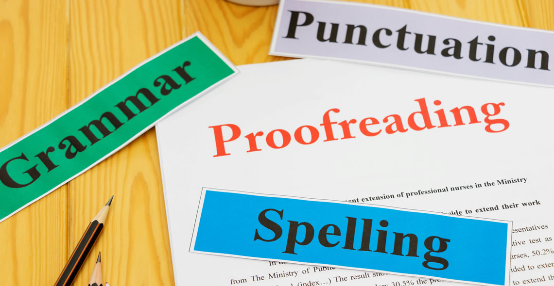 academic proofreading : BA degree in english