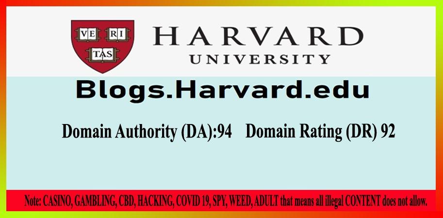 Submit Dofollow Edu Guest Post On Harvard,  Blogs. Harvard. edu DR 92