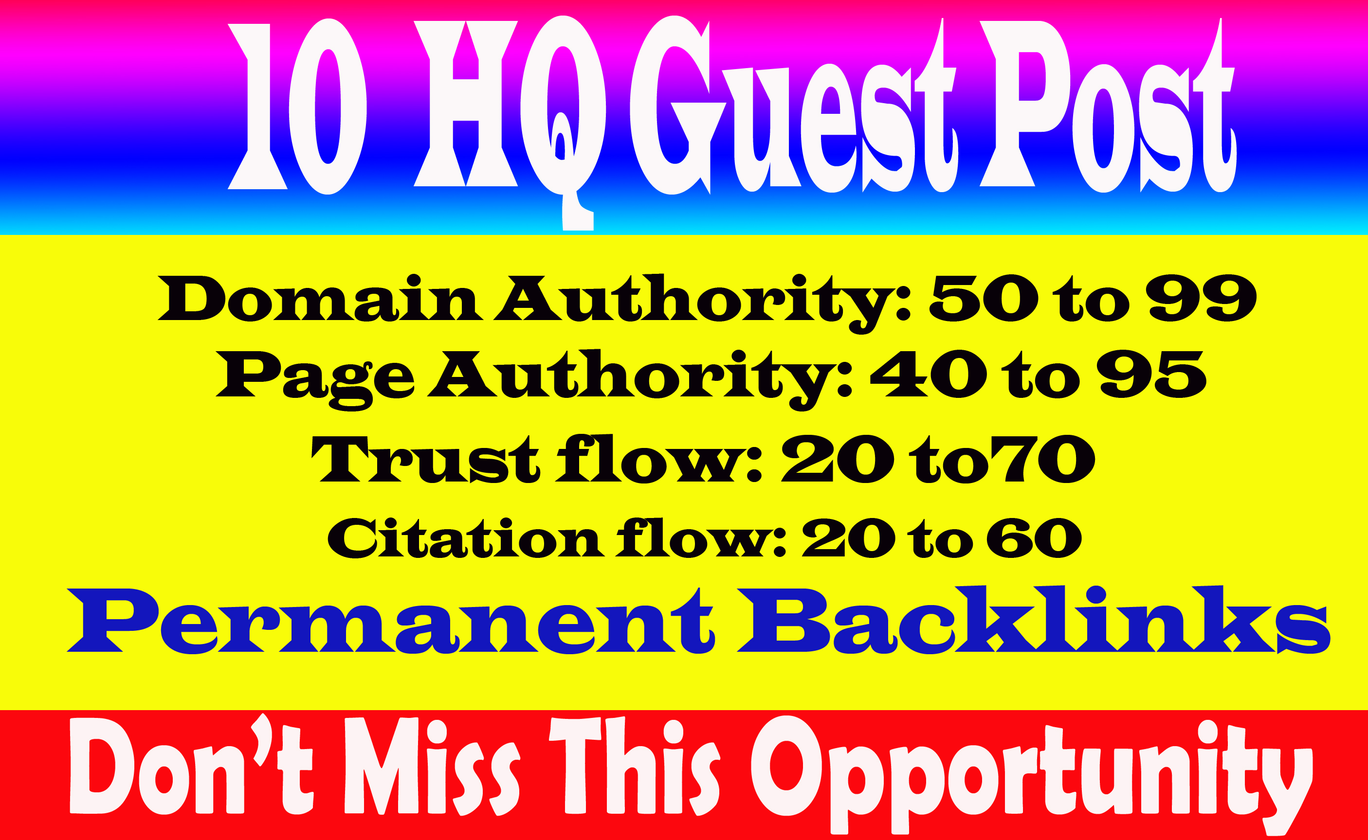 Write & Publish 10 dofollow guest post on da 90 plus with permanent and indexable link