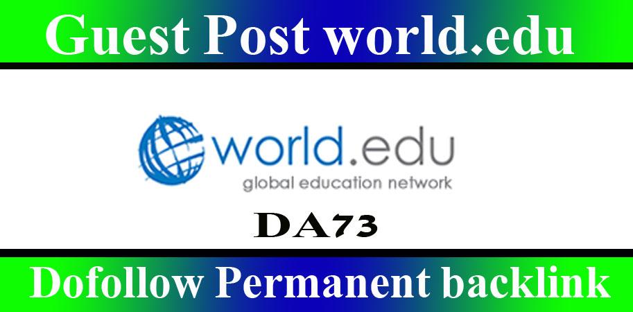 Publish Edu Guest Post on world. edu blog DA73