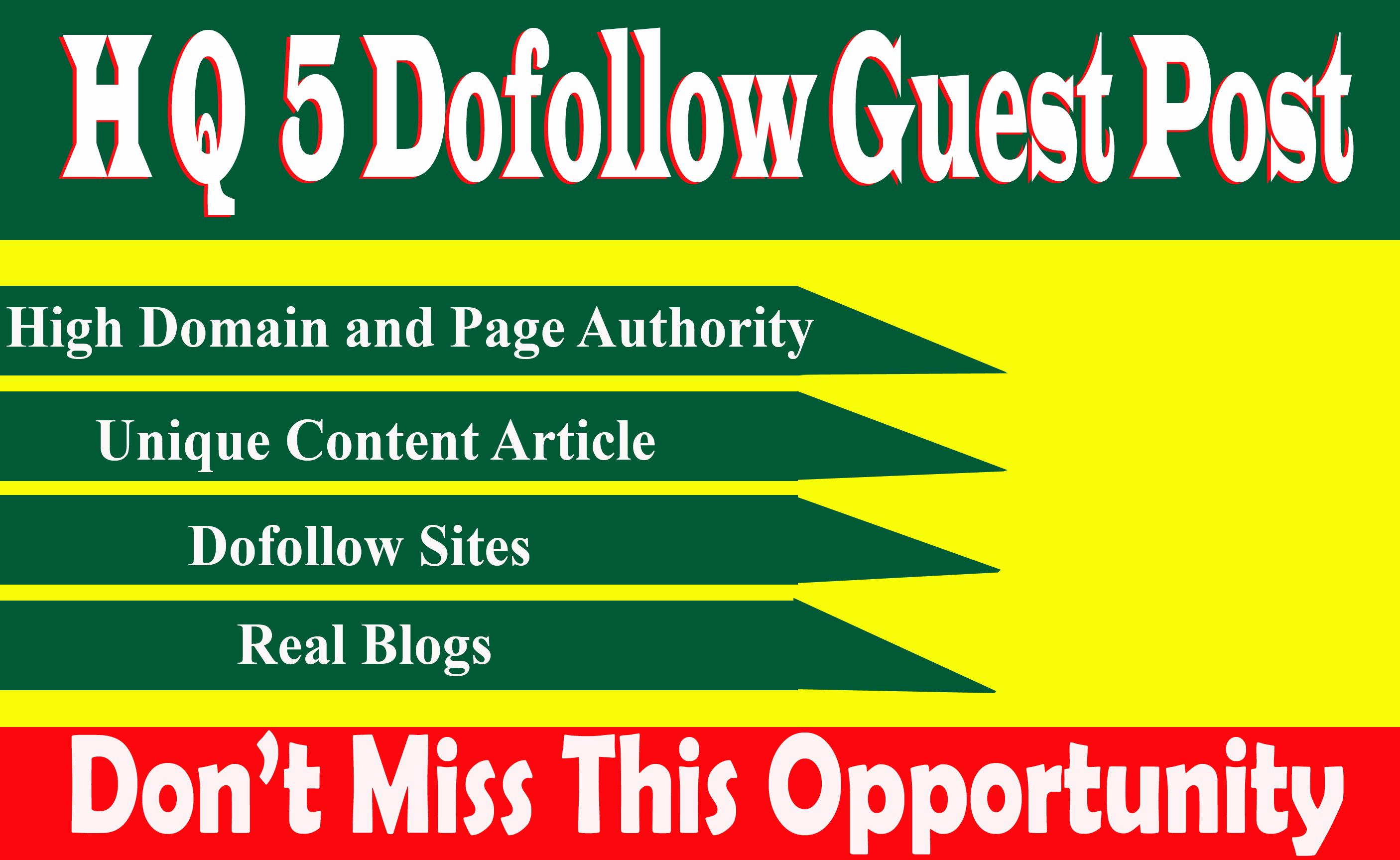 Write And Publish 5 dofoll0w Guest Post On High Traffic And High DA 89+ Sites