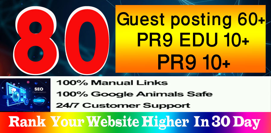 write& publish 65 guest posts high DA,  including 5 dofollow Edu guest posts and 30 more pr9 backlinks