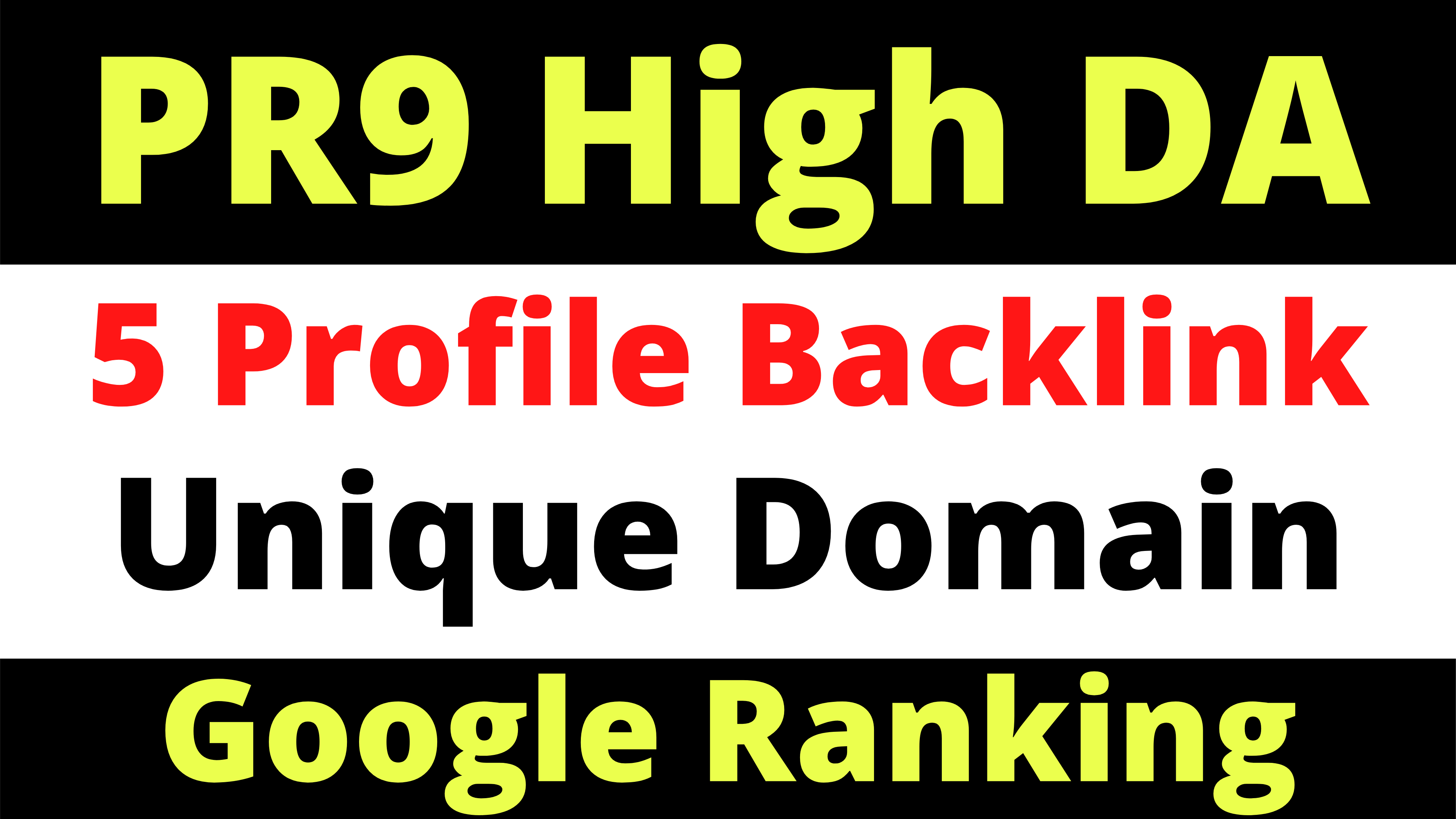 High Domain Authority PR9 4 Backlinks To Your Site Unique Domains