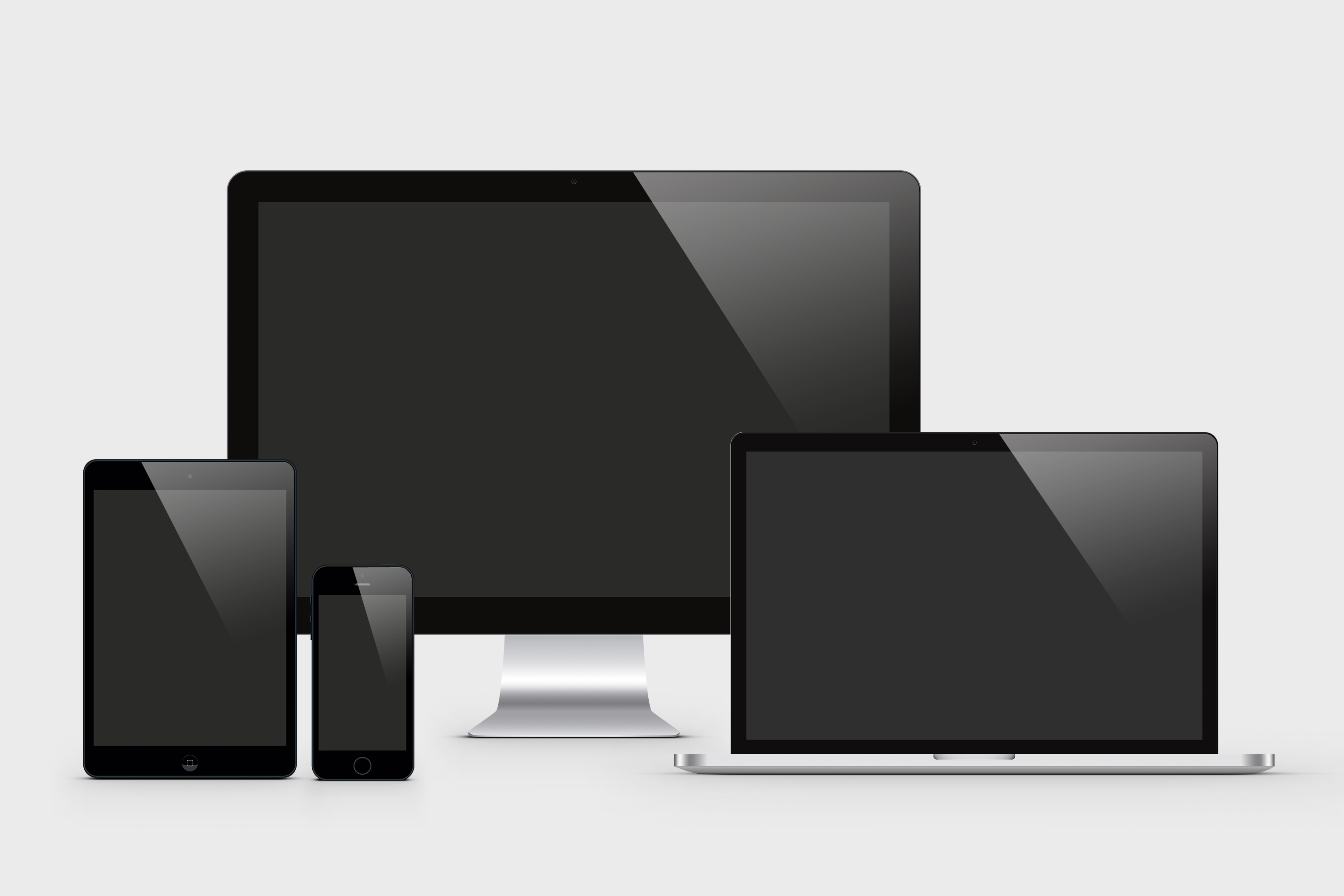 I will do responsive screen mockup