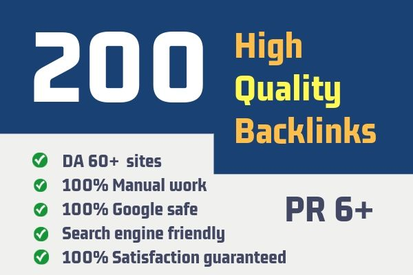i will 200 unique domain dofollow blogcomment backlinks DA 40 plus low spam scorre