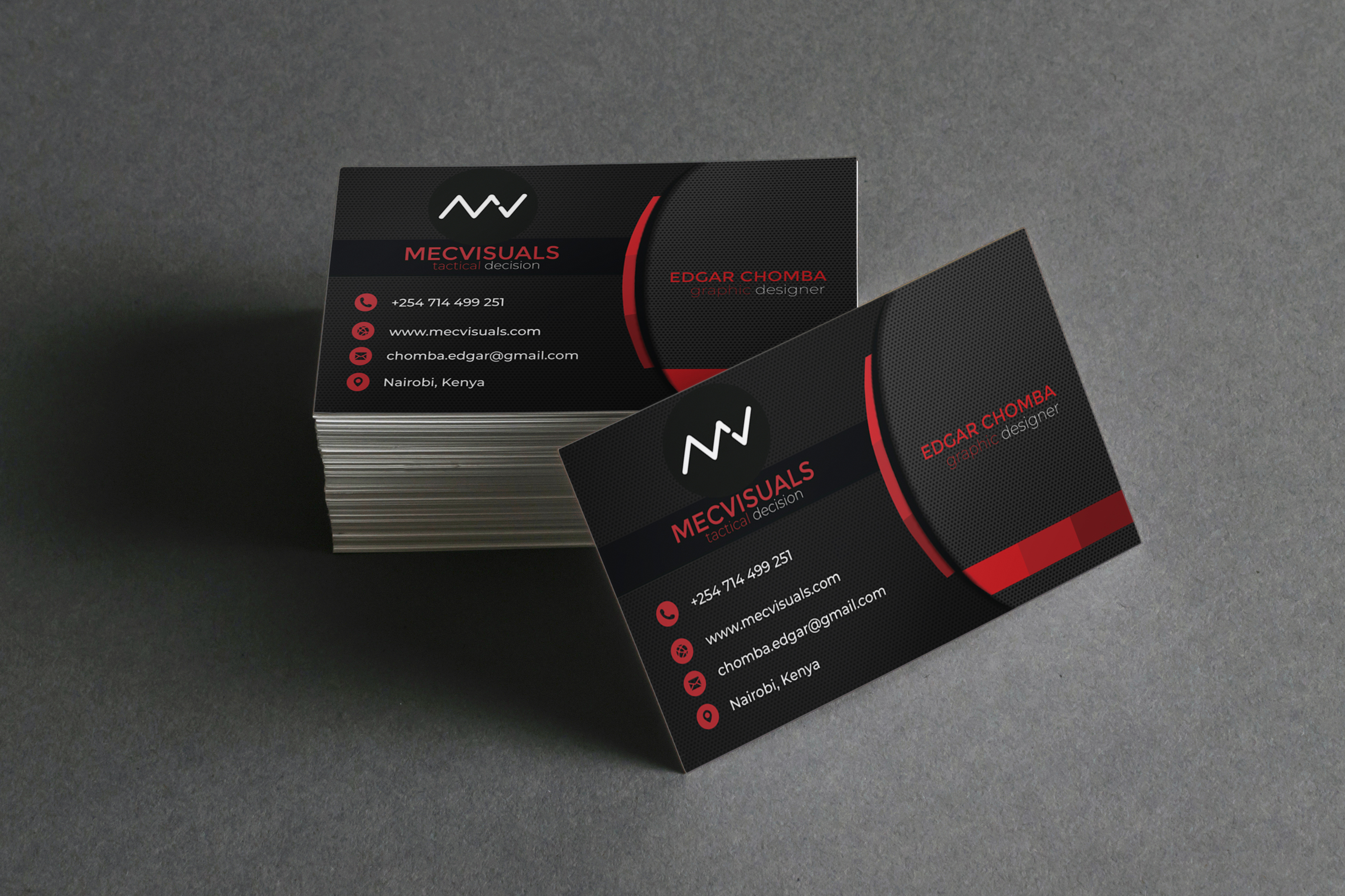 I will design unique minimalist business cards in 24 hours
