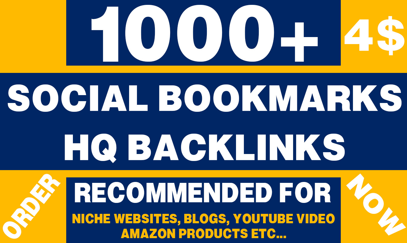 1000 HQ Social Bookmarks for your site ranking improvement