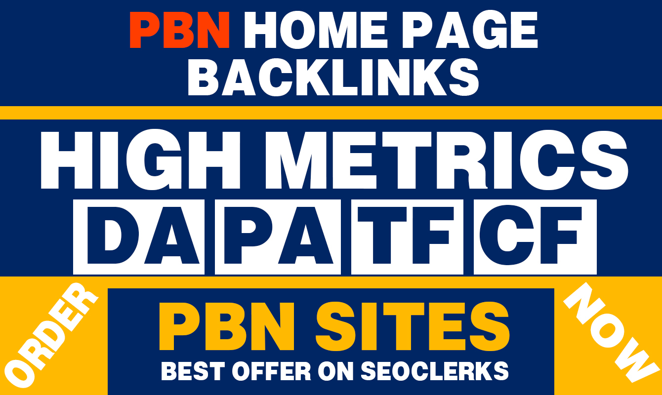 Build 50 Contextual PBN High DA PA 25+ Home Page Dofollow Backlinks