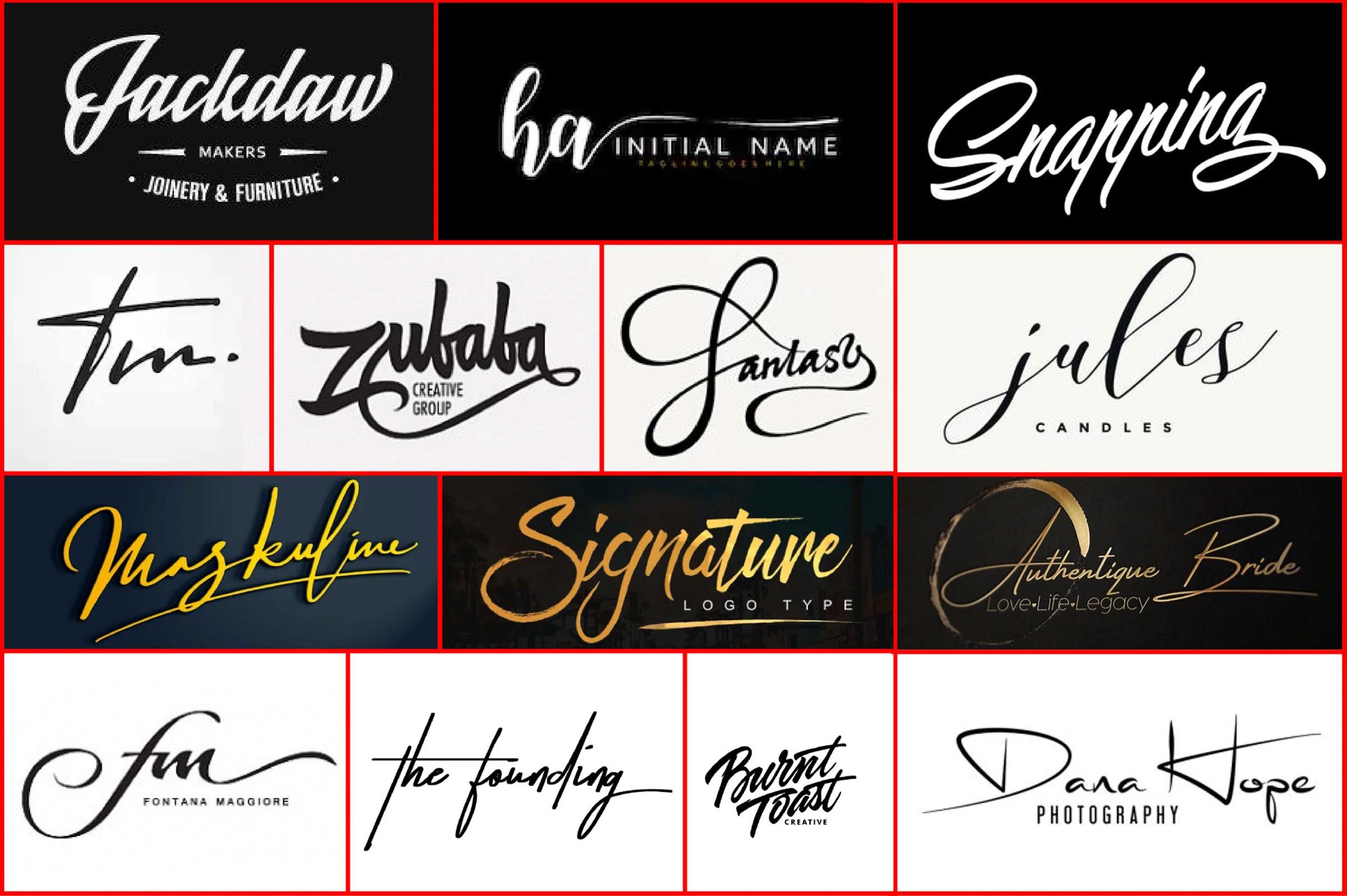 I will do design professional signature logo