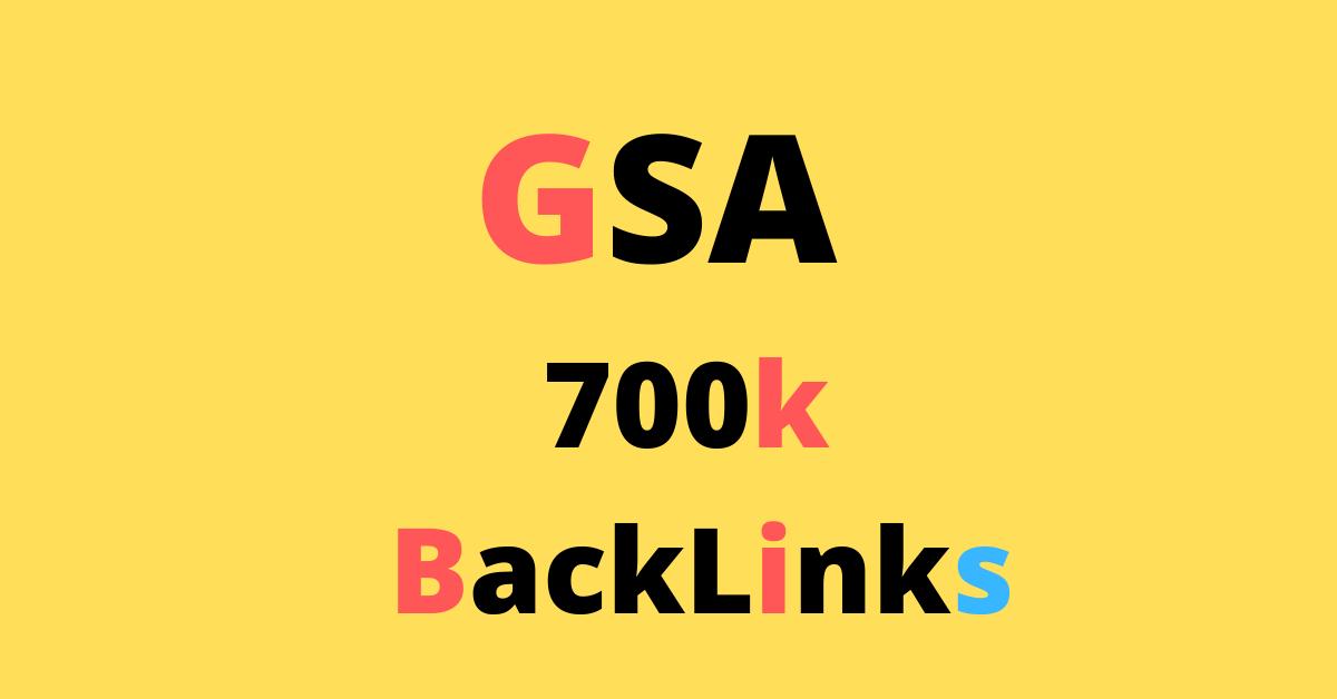 7, 00,000 GSA SER BACKLINKS FOR FAST RANKING