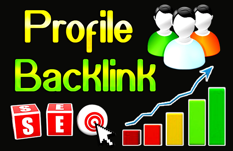Create High DA 50 Profile/Account SEO Quality Backlinks