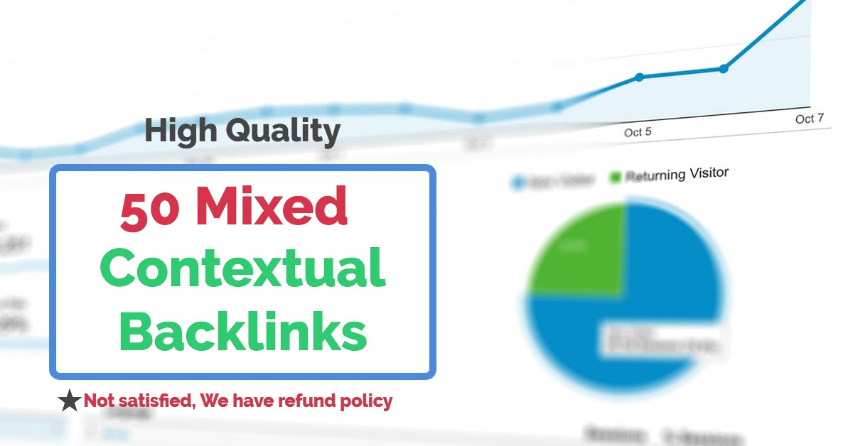 I'll Create 50 Contextual High Quality Mixed Backlinks for SEO ranking