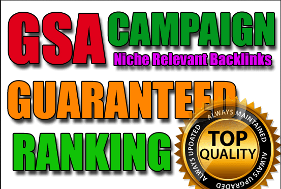 I will Create 1 Million Verified Niche relevant GSA Backlinks for unlimited URLs and Keywords