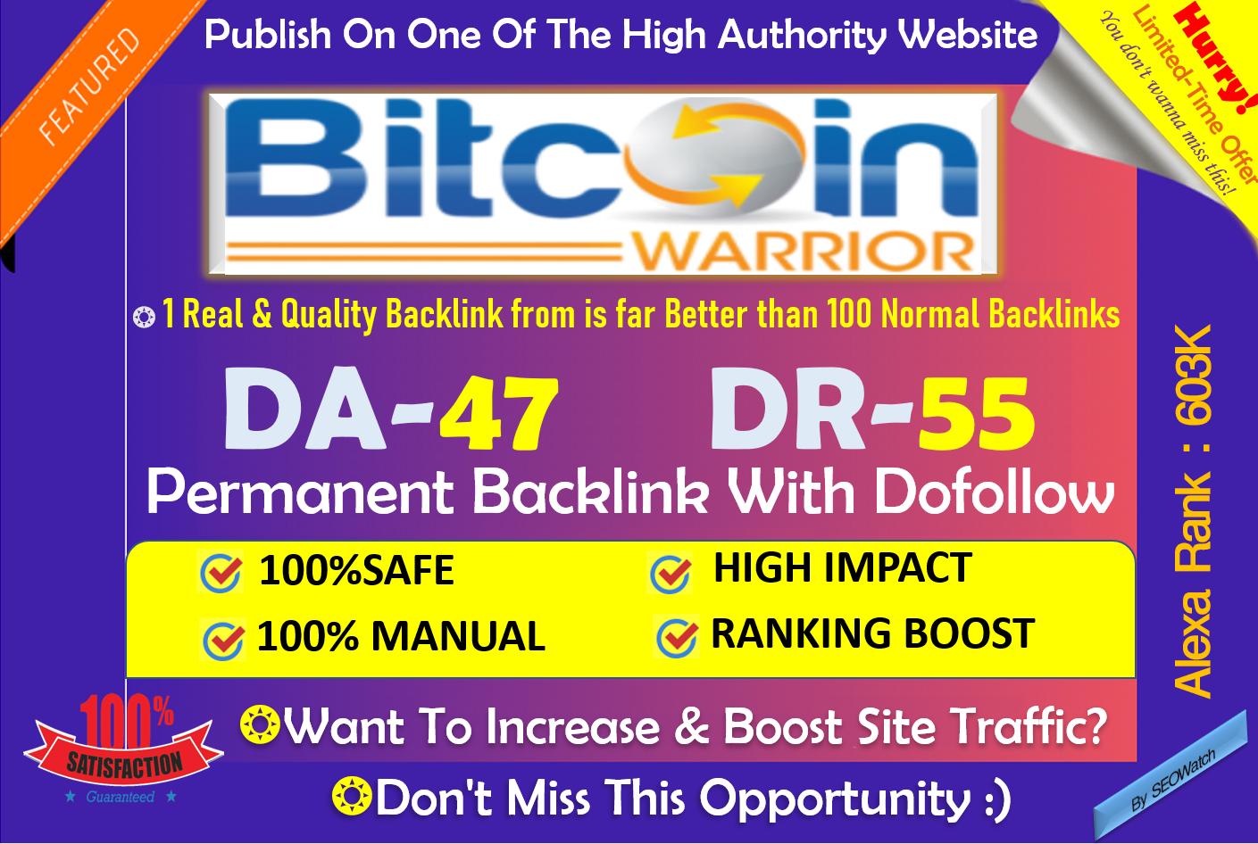Guest Post on BitcoinWarrior. net DA 47 Crypto & ICO Outreach