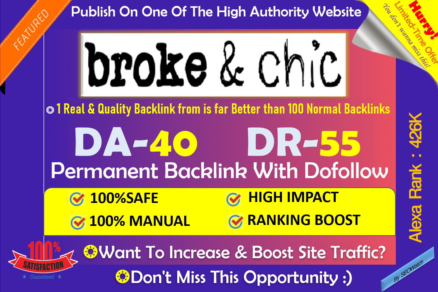 Write and Publish Fashion,  Beauty,  Health,  Lifestyle Blog on Brokeandchic. com DA 55 DR 40