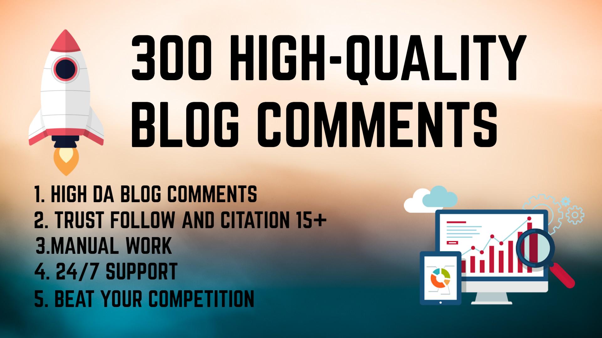 I will do 300 dofollow blogcomment backlinks