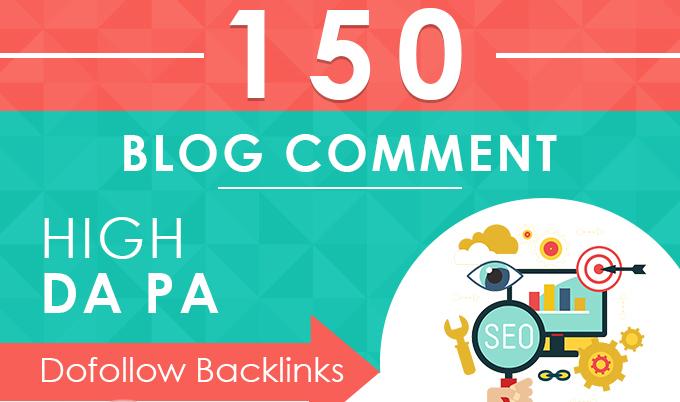 I will do 150 dofofollow blogcomment backlinks