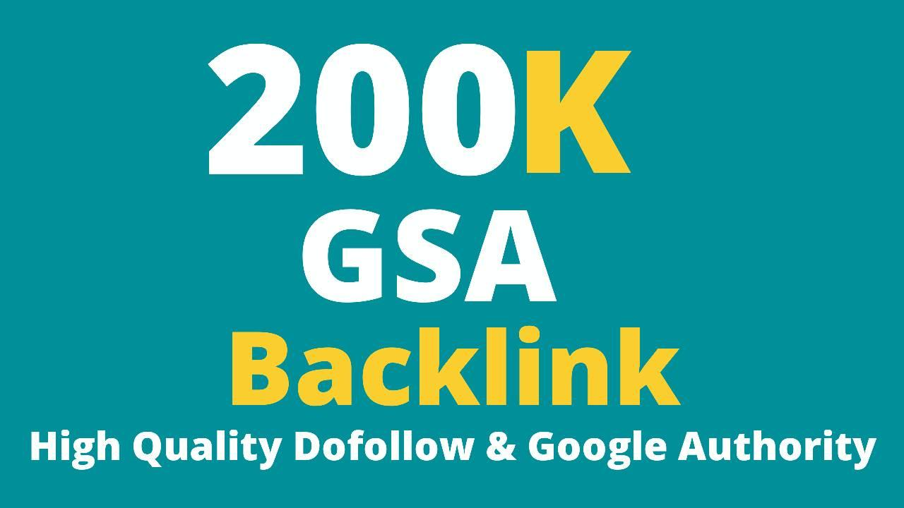 200K GSA Backlinks For Faster Google Ranking