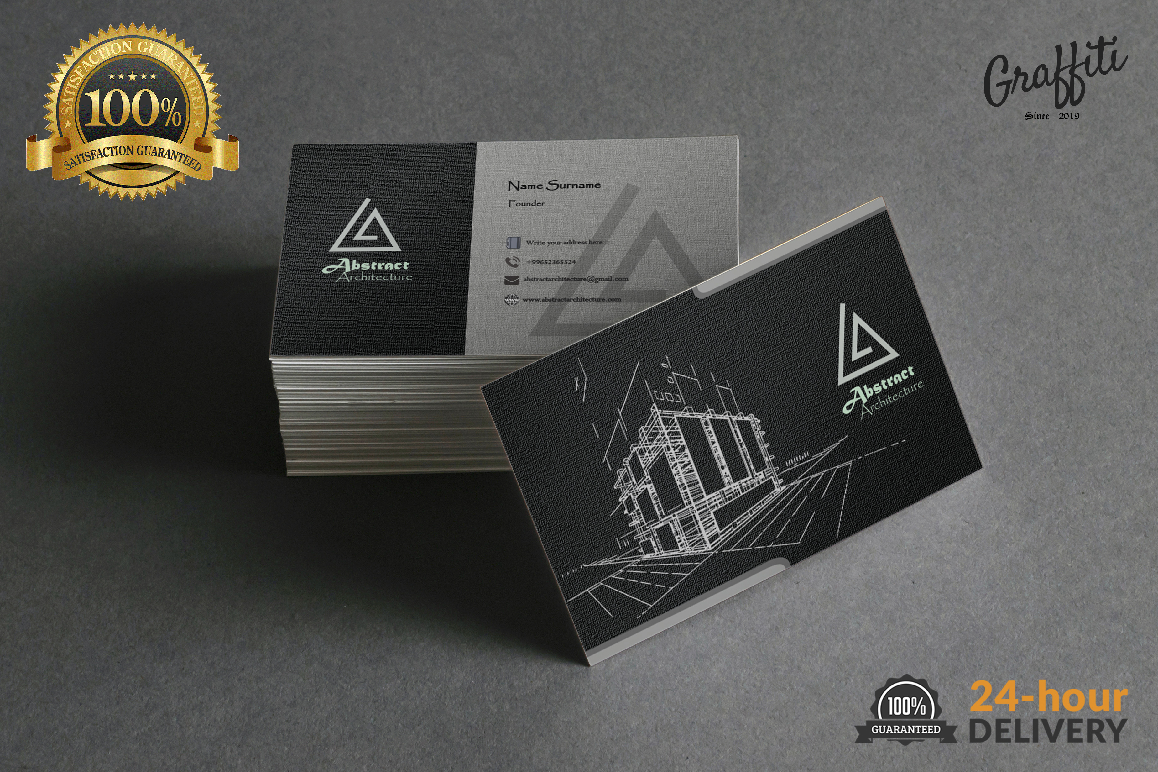 I will design a premium business card in 24 Hoours