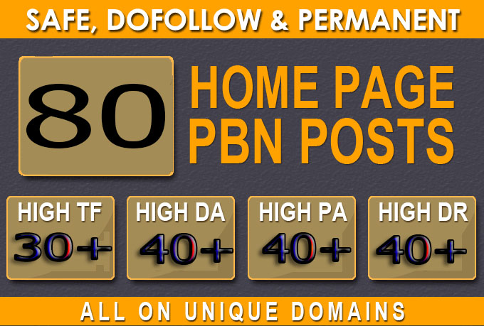 Build 80+ Backlink with 40+ Da 40+ PA DOFOLLOW and Homepage pbn with 80+ unique websile link