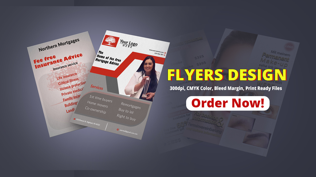 Get amazing FLYER, BROCHURES design
