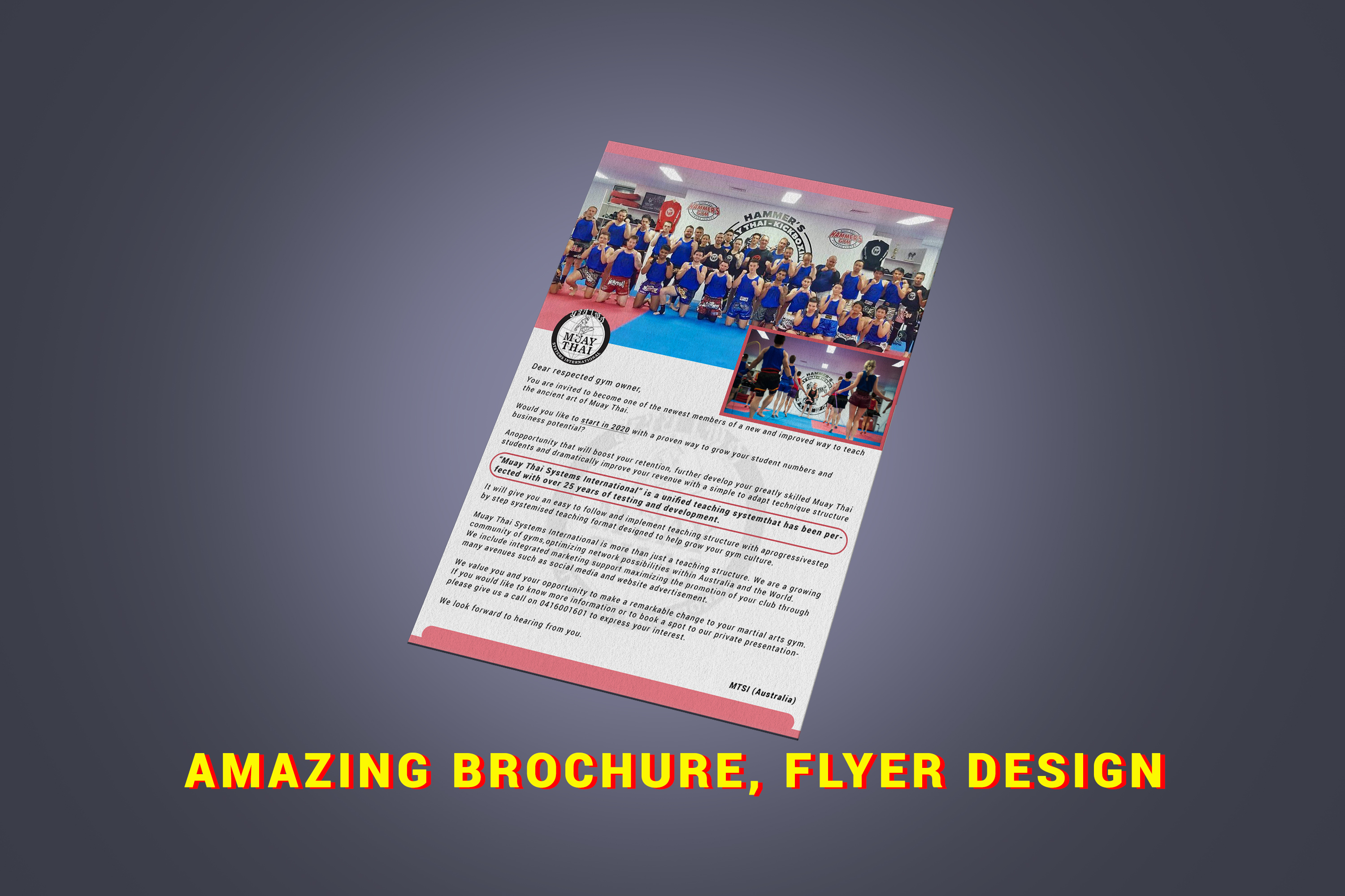 Get amazing FLYER,  BROCHURES design