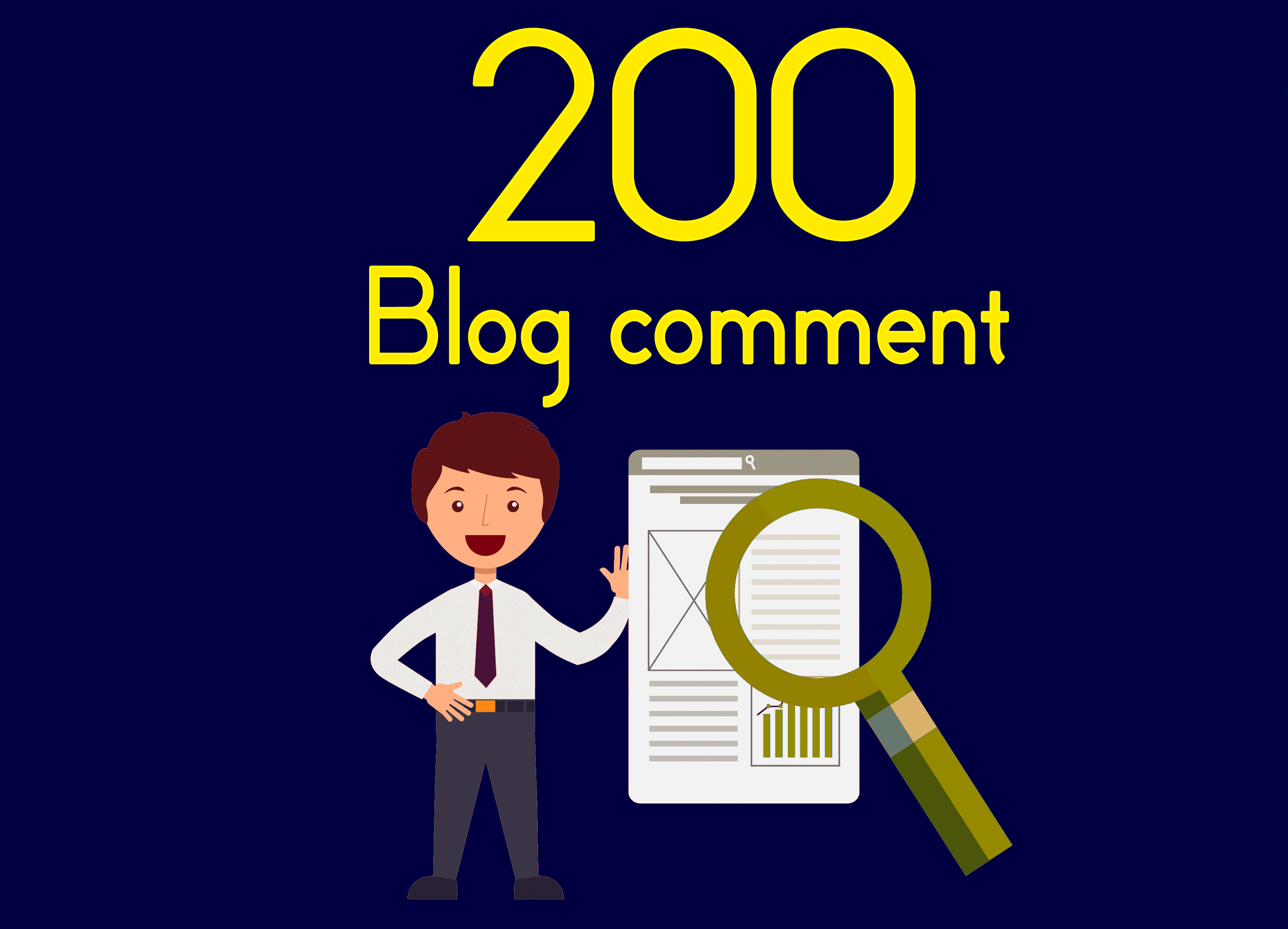 I will professional 200 dofollow blog comment low obl quality backlinks