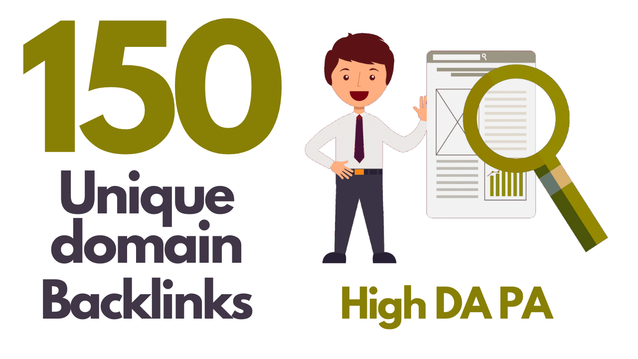 I will do 150 unique domain blog comment DA 30-50+ dofollow quality backlinks